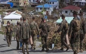 Marines assist in hurricane relief