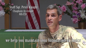 The 4th ESC Chaplain Assistant talks about his role