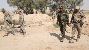 Iraqi security forces conduct explosive hazard awareness training