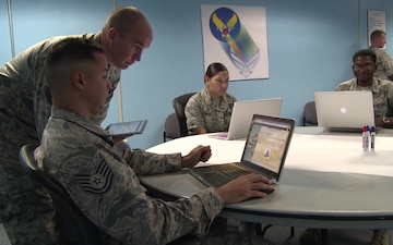 Airmen discuss the Continuum of Learning