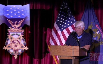 Medal of Honor Awardee Addresses The Michigan National Guard