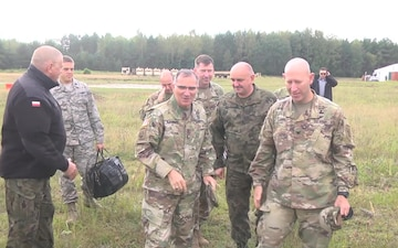 General Scaparrotti visits troops in Poland Broll