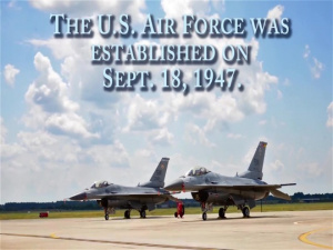 Happy Birthday Air Force, From Shaw AFB