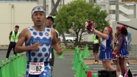 Competitors race in Iwakuni triathlon (Package/Pkg)