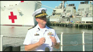 Navy Officials Brief Reporters Before USNS Comfort Departure