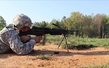 Army Reserve Soldiers Shoot a Variety of US Machine Guns