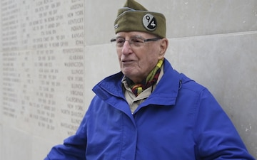 Two WWII vets visit Luxembourg American Cemetery and Memorial