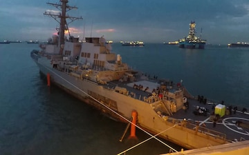 USS John S. McCain Time Lapse of Move to Heavy Lift