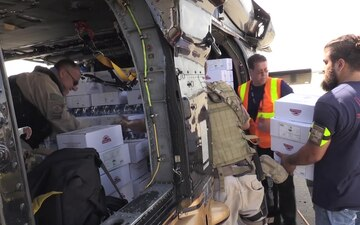 CBP Air and Marine Operations Loads Emergency Supplies for Transport to Castaner, Puerto Rico