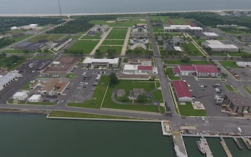Aerial Footage Coast Guard Training Center Cape May