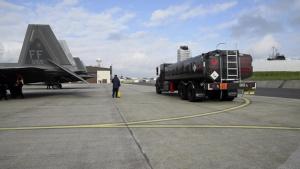 F22s visit Spangdahlem Germany
