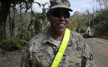National Guard Engineers Clear Roads in Wake of Hurricane Maria