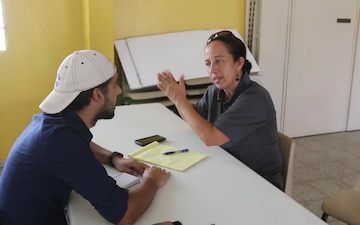 Hearing Impaired Residents Register for Disaster Relief Assistance in San Juan Puerto Rico