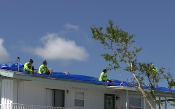 Blue Roof Work in Big Pine Key, Florida