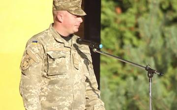 Lt. Col. Rozhko Welcomes Ukrainian Battalion to Yavoriv CTC