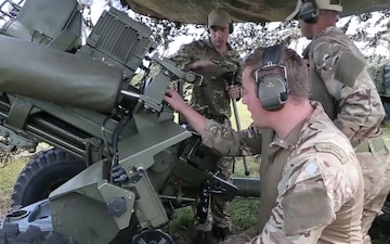 U.S. and British Forces Fire Artillery for Bold Alligator