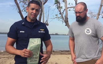 USCG, FEMA demonstrate how to properly prepare a Meal Ready to Eat