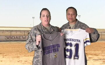 MSgt Jessica Ferris and MSgt Jessica Wilson Shout Out - Minnesota Vikings
