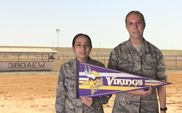 TSgt Danielle Cummings and SSgt Mariah Klingenburg Shout Out - Minnesota Vikings