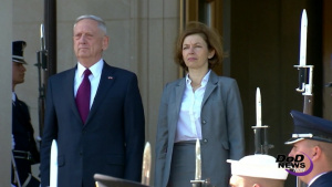 Mattis Welcomes French Counterpart to Pentagon