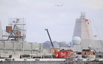 USS Anchorage Departure - Dawn Blitz 2017