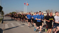 Task Force Knighthawk World Run MK Air Base, Romania B-roll
