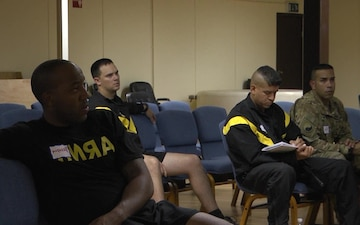 Soldiers learn about Applied Suicide Intervention Skills Training(ASIST)