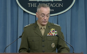 Dunford Briefs Reporters on Recent Military Operations in Niger