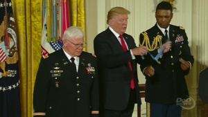 Retired Army Captain Receives Medal of Honor, Inducted Into Pentagon Hall of Heroes