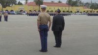 "CWO 4 Hershel ""Woody"" Williams attends Marine Corps Boot Camp Graduation"