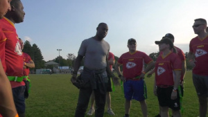 Hanscom hosts NFL, Wounded Warrior Project
