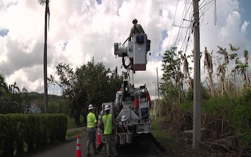 Army Reserve Engineers Work to Restore Power in Rio Grande, Puerto Rico