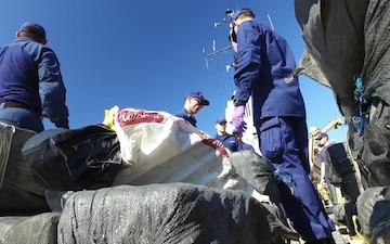 Coast Guard offloads more than 6,500 lbs of cocaine seized in the Eastern Pacific