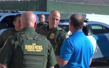 Acting Deputy Commissioner Ronald D. Vitiello tours the Border Wall Construction Site