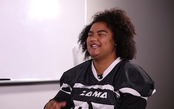 Zama American High School Female Football Player Interview