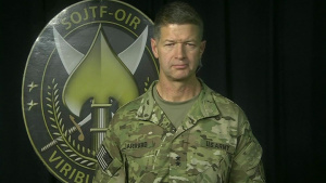 Operation Inherent Resolve Military Official Briefs Reporters