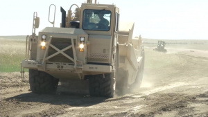 South Dakota Engineers Finish a Road