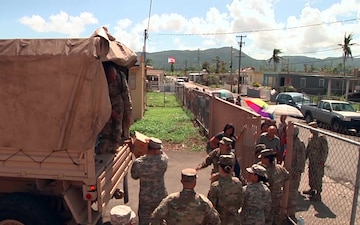 101st Troop Command Delivers Supplies to Ingenio, Yabucoa