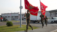 MAG-12 participates in the 1st MAW's Marine Corps birthday 242-mile run