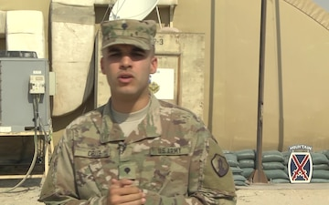 Spc. Gregory Cruz - Holiday Greeting