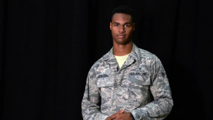 Airman 1st Class Jair Semexant Shoutout to University of Florida Gators