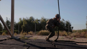 Marines with SPMAGTF-CR-AF go fast-roping