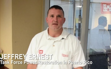 Chief of Contracting Jeffrey Ernest shares his experience working for Task Force Power Restoration in Puerto Rico