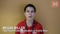 Electrical Engineer Megan Miller shares her experience working with Task Force Power Restoration in Puerto Rico