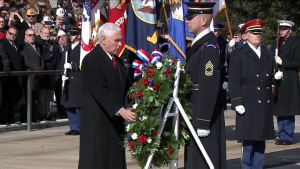 Vice President Commemorates Veterans Day at Arlington Cemetery