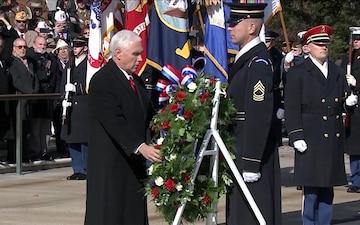 Vice President Commemorates Veterans Day at Arlington Cemetery