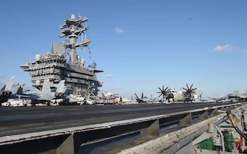 USS Nimitz three-carrier strike force exercise