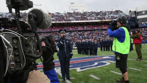 914th ARW Participates in NFL Salute to service