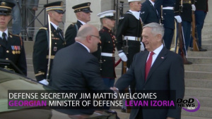 Mattis Welcomes Georgia's Minister of Defense
