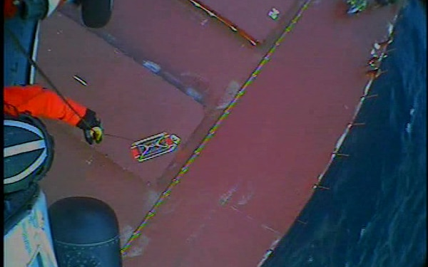 Coast Guard hoist cam footage